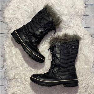 Sorel Tofino II Winter Boots Black/Stone sz 10